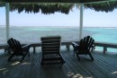 Barefoot Marina - The palapa and view of their protected reef.