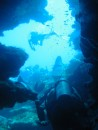 Roatan - Diving at Marys Place, which consists of a huge canyon. A few places we had to wiggle through single file.