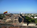 Cartagena – San Felipe fort with some of the modern day city in the background.
