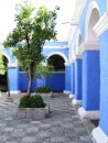 One of the many courtyards at Monasterio de Santa Catalina in Arequipa.