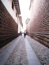 Cusco - Narrow streets with Incan rock wall foundations reveal the city