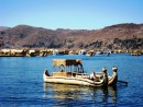 Islas Flotantes on Lake Titicaca. Another boat made totally of reeds.