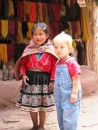 Wyatt and an indiginous girl in The Sacred Valley pose. Wyatt made friends everywhere with his unusual (for Peru) blond hair and blue eyes.