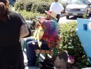 A colourful gentleman who plays and sings everyday at the Sausalito ferry wharf.