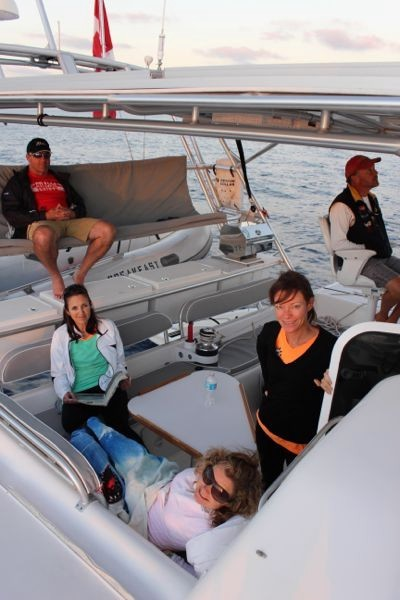 Even with six on board, we had lots of space for everyone to hang out.