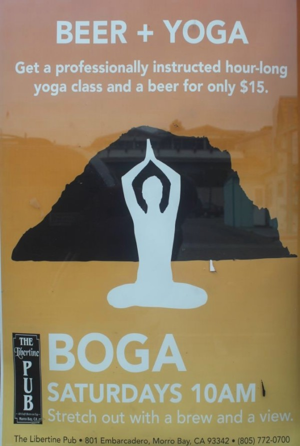 Now this is how yoga really should be done.  Bear + Yoga = BOGA