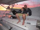 The leg to Cabo had one overnight stint with another great sunset