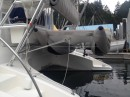 The boat came with a catamaran RIB dinghy.  It was fast and maneuverable, but a bit finicky.  We