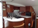 The u-shaped galley is very well designed and even has an exhaust fan.