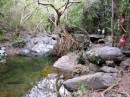 There is a nice hike from La Manzanilla up to a great swimming hole.