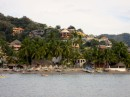 Across the bay from Tenacatita is the small bohemian town of La Manzanilla.  It is chock full of Canadians