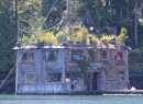 Quite the floating home, Surge Narrows