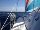 fair weather sailing with the Spinnaker off of the Oregon coast