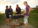 BBQ ashore for the crew