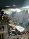 BBQ fish for lunch at Ambon.