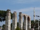 The storks on the Byzantine aquaduct in Selcuk.
