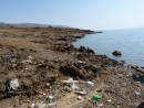 The Dead Sea,one of Jordans main tourist attactions and rubbish dump