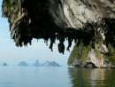 Phang Nga Bay limestone overhangs.