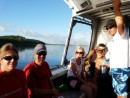 (L-R) Alison, Michael, Trish, Sherry, and Steve. On our way to find the whales.