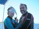Gordon and Sherry from Serenity smile in exhuberence, mirroring how we all felt.