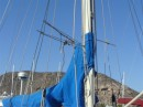 Spot the hummingbird nest in the rigging La Paz May 2014