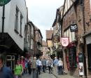 Houses almost meet over the top of the Shambles