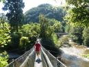 Randall on the suspension bridge over roaring rivers in Rivendell