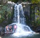 Kids ready to splash into Waiau Falls