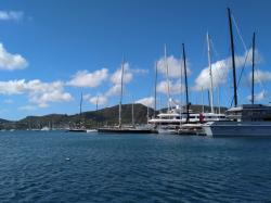 ....in Falmouth Harbour Antigua
