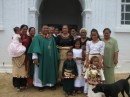 The priest and helpers in Niafu, Vavau