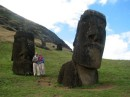 "At the ""nursery"" or construction site for the moai at Easter Island"