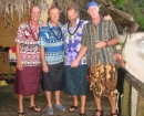 The locally-attired bunch at the beach bar in Pago Pago, American Samoa