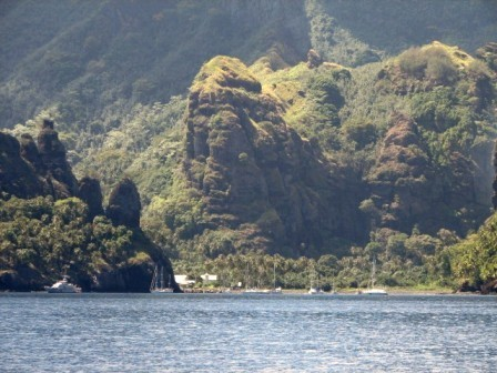 Crossing end at Fatu Hiva, Marquesas