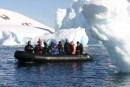 Touring iceberg alley in the Zodiacs