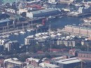 A picture of the marina from the cable car as we went down Table Mountain