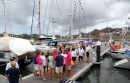 The party on the dock after the boats are tied up safely