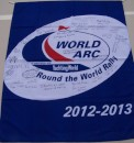 Mark bought an extra World Arc flag so we could have our fellow rally participants sign it.  A great keepsake!