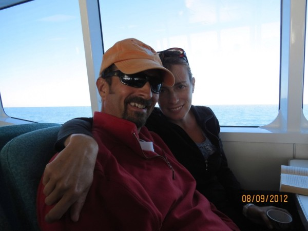 Mark and I on our way to the Great Barrier Reef with Tony, Jake and Eileen
