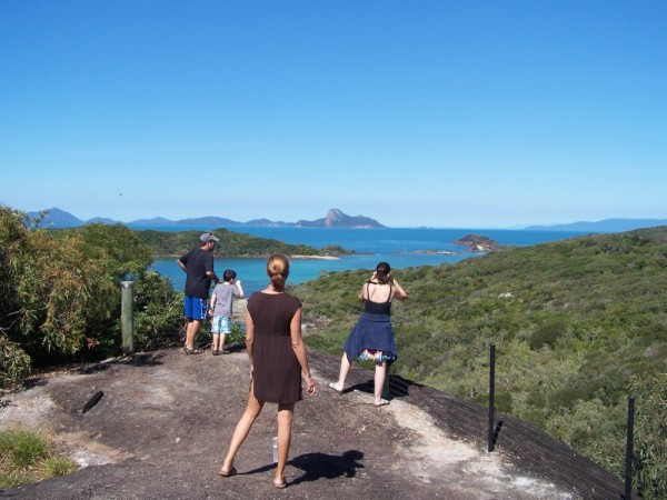At lookout on the hike from White Haven Beach