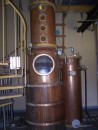 A distilling machine at the rum factory