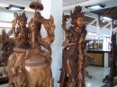 The enormous sculptures in the store
