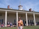 Me in front of the porch of Mount Vernon