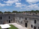 A view of the center courtyard at the fort in St. Augustine