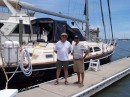 Mark and Jim, one of our faithful blog followers, on the dock in St. Augustine