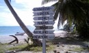 A great sign with distances to important places.  We really are in the middle of no where.