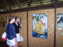 Magali (s/v Ensemble) and Janet looking at the replicas of Gauguin