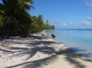 Finally - A soft beach landing!  Hirifa motu, Fakarava