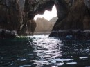 Sea cave we dinghied through Paraiso