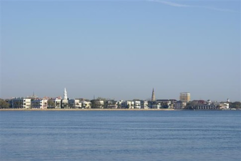 Charleston Harbor shoreline: Charleston Harbor shoreline