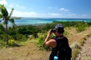 Bri getting some great shots on Nanuya Island with his new camera